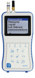 ecom-J2KNpro TECH - mobiles Emissionsmessgerät Bedienteil