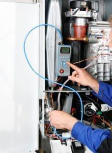 ecom-DP - Differenzdruckmessgerät Anwendung an Therme
