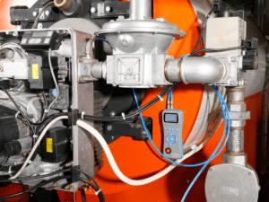 ecom-DP - Differenzdruckmessgerät Anwendung am Brenner