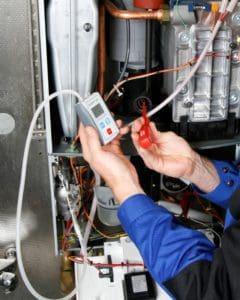 ecom-UNO - Differenzdruckmessgerät Anwendung an Therme