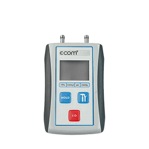ecom-UNO Differenzdruckmessung zur Einstellung von Gasbrennern