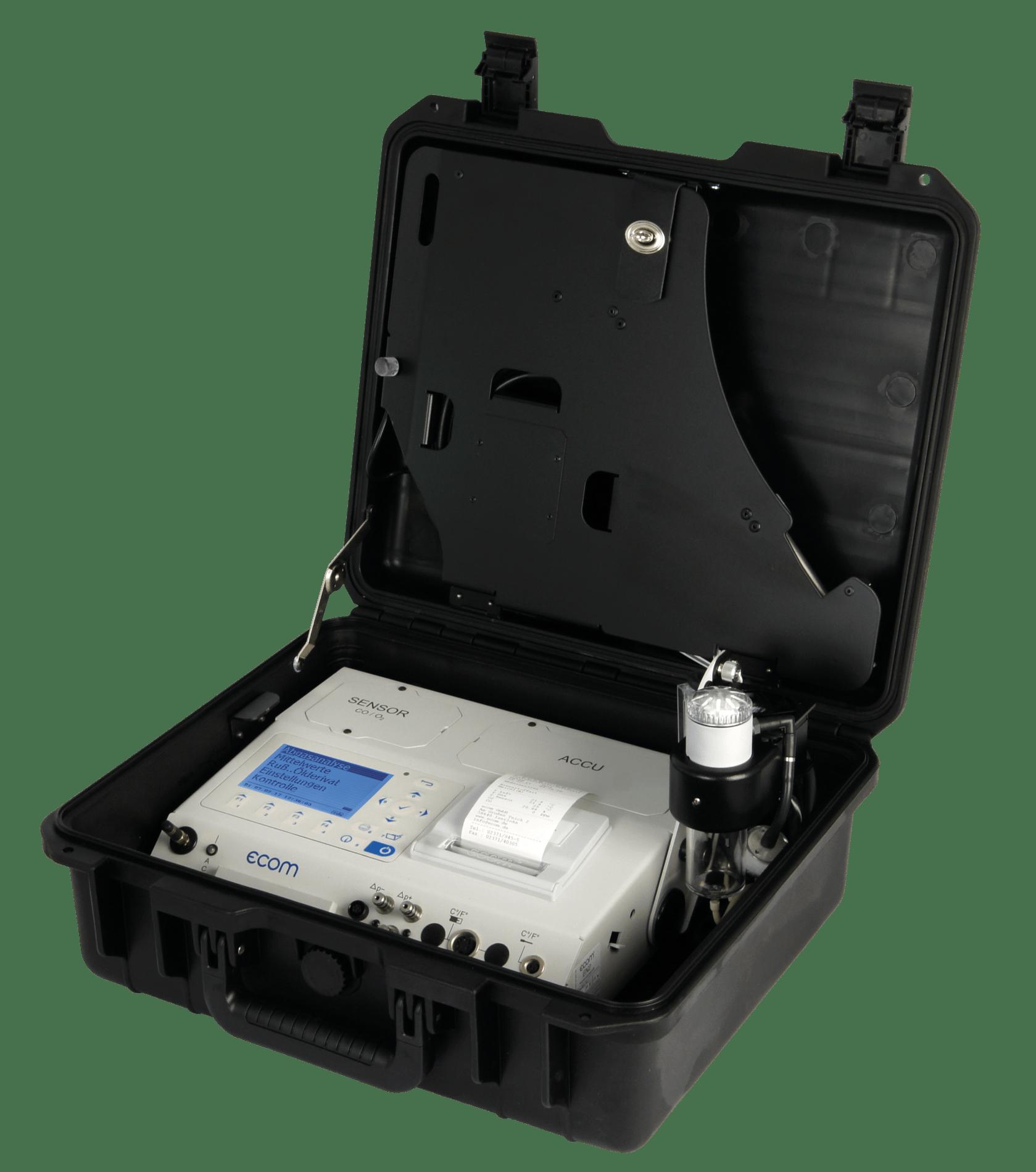 ecom-EN2-F - Abgasanalysegerät für industrielle Anwendungen in Fluggepäckform