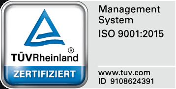 ISO zertifiziert vom TÜV Rheinland